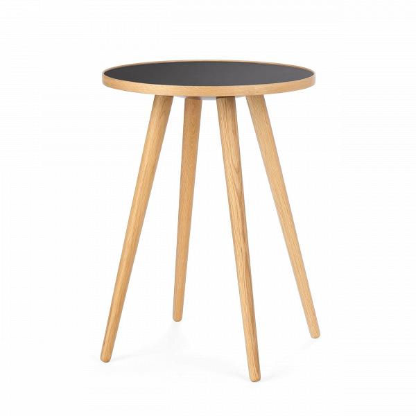 Кофейный стол Sputnik высота 55 диаметр 41Кофейные столики<br>Дизайнерский кофейный стол Sputnik (Спутник) (высота 55 диаметр 41) с пластиковой столешницей на четырех ножках от Cosmo (Космо).<br><br><br> Кофейный стол Sputnik высота 55 диаметр 41 имеет четыре длинные устойчивые ножки и небольшую круглую столешницу. Его разработал американский дизайнер и архитектор мирового уровня Шон Дикс. Столик сделан из качественной древесины американского ореха, что делает его достаточно прочнымВ и долговечным. СтолешницаВ покрыта меламином, благодаря чему уст...<br><br>stock: 0<br>Высота: 55<br>Диаметр: 40,6<br>Цвет ножек: Светло-коричневый<br>Цвет столешницы: Черный<br>Материал ножек: Массив дуба<br>Тип материала столешницы: Пластик<br>Тип материала ножек: Дерево<br>Дизайнер: Sean Dix