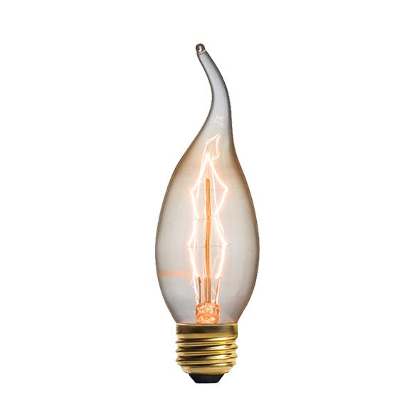 Винтажная лампа Эдисон Z Style (С35) 7 нитейРетролампочки<br>Дизайнерская винтажная лампа Эдисон Z Style (С35) 7 нитей необычной изогнутой зигзагообразной формы придаст любому интерьеру, как в стиле хай-тек, так и в стиле барокко или минимализма, изящества, а также добавит гармонии, сочетаемости и функциональности. Современная модель в стиле ретро определенно впишется в любой уголок дома или офиса. <br><br><br>Купить винтажную лампу Эдисон Z Style (С35) 7 нитей необходимо хотя бы для того, чтобы добавить в простой интерьер акцент и, наоборот, в насыщенн...<br><br>stock: 0<br>Длина: 11<br>Материал абажура: Стекло<br>Мощность лампы: 25W<br>Ламп в комплекте: Нет<br>Напряжение: 220<br>Тип лампы/цоколь: E14<br>Цвет абажура: Прозрачный