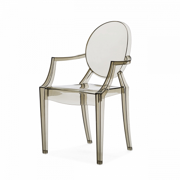 Детский стул Louis GhostМебель для детей<br>Особый стиль современного дизайна требует к себе особенно тщательного подхода. Зачастую комнаты оформляются в популярном сегодня стиле минимализма, из-за чего выбор подходящей мебели и декора для комнаты нужно делать обдуманно и со вкусом. Не должно быть ничего лишнего,В практичность и красота — вот главные принципы такого дизайна. Но если речь идет о детской комнате, такие принципы трудно соблюдать в полной мере.<br><br><br> Детский стул Louis Ghost — это замечательное сочетание удобства ...<br><br>stock: 14<br>Высота: 63,5<br>Высота сиденья: 33<br>Ширина: 37<br>Глубина: 38,5<br>Материал каркаса: Поликарбонат<br>Тип материала каркаса: Пластик<br>Цвет каркаса: Дымчатый<br>Дизайнер: Philippe Starck