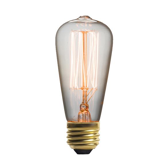 Винтажная лампа Эдисон  Steeple Squirrel Cage (ST48) 13 нитейРетролампочки<br>Ультрамодная винтажная лампа Эдисон Steeple Squirrel Cage (ST48)13 нитей приглашает всех не просто окунуться в прошлый век, но также разгадать притягательный стиль ретроискусства. Для всех любителей винтажного и универсального данная лампа будет идеальным решением. <br><br><br>Купить винтажную лампу Эдисон Steeple Squirrel Cage (ST48)13 нитей — значит придать интерьеру стиль в сочетании с ультрамодными и новаторскими решениями. Именно эта модель станет излюбленной для почитателей индустриально...<br><br>stock: 1271<br>Длина: 11,5<br>Материал абажура: Стекло<br>Мощность лампы: 25W<br>Ламп в комплекте: Нет<br>Напряжение: 220<br>Тип лампы/цоколь: E27<br>Цвет абажура: Прозрачный