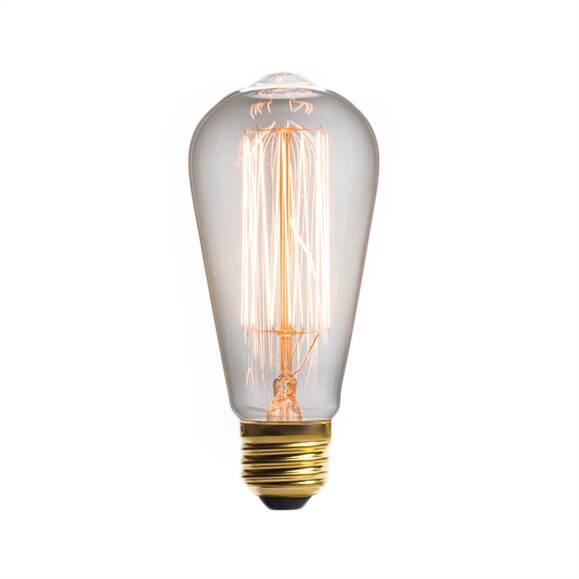 Винтажная лампа Эдисон Steeple Squirrel Cage (ST64) 19 нитейРетролампочки<br>Необычная форма и дизайн винтажной лампы Эдисон Steeple Squirrel Cage (ST64) 19 нитей позволяют стать ей как функциональным предметом, так и стильным аксессуаром любого интерьера. Дизайнерская винтажная лампа выполнена в ретростиле и будет освежающим глотком воздуха для интерьера — как самого простого, так и самого насыщенного. <br><br><br> Можно создать собственное сочетание путем подбора торшеров самых разных стилей и данной лампы. Купить винтажную лампу Эдисон Steeple Squirrel Cage (ST64) 1...<br><br>stock: 2776<br>Длина: 13<br>Материал абажура: Стекло<br>Мощность лампы: 60W<br>Ламп в комплекте: Нет<br>Напряжение: 220<br>Тип лампы/цоколь: E27<br>Цвет абажура: Прозрачный