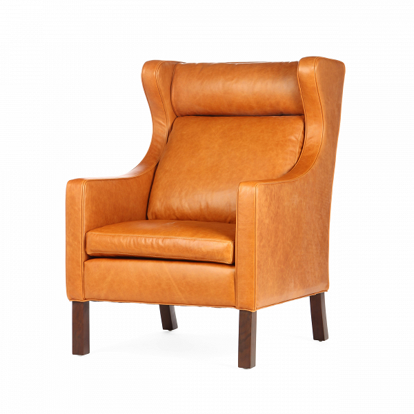 Кресло Mogensen 2200 кожа waxyИнтерьерные<br>Дизайнерское светло-коричневое глубокое кожаное кресло Mogensen 2200 (Модженсен 2200) от Cosmo (Космо).<br><br><br><br><br> Кресло Mogensen 2200 кожа waxyВ — это устойчивое иВнадежное оригинальное кресло, которое воплощает вВсебе типично датские черты дизайна. Оно создано датчанином Бергом Могенсеном.<br><br><br> Оригинальное кресло Mogensen 2200 кожа waxy<br>обладает линиями исключительной чистоты иВнапоминают спокойную иВмирную атмосферу скандинавских стран. Европейский стиль в&amp;nb...<br><br>stock: 4<br>Высота: 106<br>Ширина: 70<br>Глубина: 92<br>Цвет ножек: Коричневый<br>Тип материала обивки: Кожа<br>Тип материала ножек: Дерево<br>Цвет обивки: Коричневый<br>Дизайнер: BГёrge Mogensen