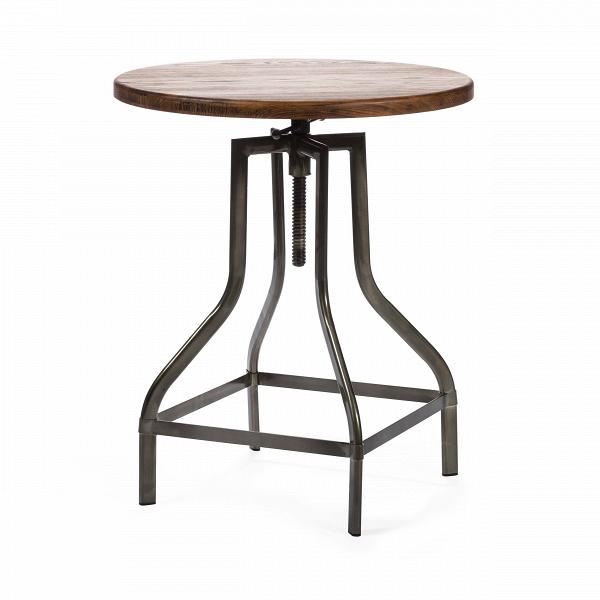 Барный стол Tulip PlockБарные<br>Дизайнерская круглая столешница Tulip Plock (Тулип Плок) из ивы от Cosmo (Космо)<br><br><br> Представьте себе аромат горького кофе, спокойную музыку, мягкий свет. Кирпичные стены, кованые подсвечники и круглый винтажный столик — уютно, спокойно, можно с удовольствием расслабиться, отдыхая после рабочего дня. Изготовленный в индустриальном стиле барный стол Tulip Plock сочетает в себе холод металла и теплоту дерева, он станет одним из тех важных элементов интерьера, благодаря которым в доме появл...<br><br>stock: 0<br>Высота: 72-85<br>Диаметр: 60<br>Цвет ножек: Бронза пушечная<br>Цвет столешницы: Коричневый<br>Материал столешницы: Массив ивы<br>Тип материала столешницы: Дерево<br>Тип материала ножек: Сталь