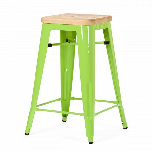 Барный стул Marais Color 1Полубарные<br>Хорошая мебель — это мебель стильная, удобная и надежная, простая в уходе. Так размышлял Ксавье Пошар, французский дизайнер ХХ века, и разработал целую серию предметов мебели, отвечающую этим запросам. Представляем вам барный стул Marais Color 1 с сиденьем из натурального дерева.<br><br><br> Тонкая гальванизированная сталь с порошковым напылением отлично воспринимает лакокрасочное покрытие, позволяя разнообразить палитру цветов, к тому же она очень долговечна. Продуманный дизайн предмета обесп...<br><br>stock: 2<br>Высота: 65<br>Ширина: 44<br>Ширина сиденья: 30<br>Глубина: 44<br>Глубина сиденья: 30<br>Тип материала каркаса: Сталь<br>Материал сидения: Массив дуба<br>Цвет сидения: Дуб<br>Тип материала сидения: Дерево<br>Цвет каркаса: Зеленый<br>Дизайнер: Xavier Pauchard