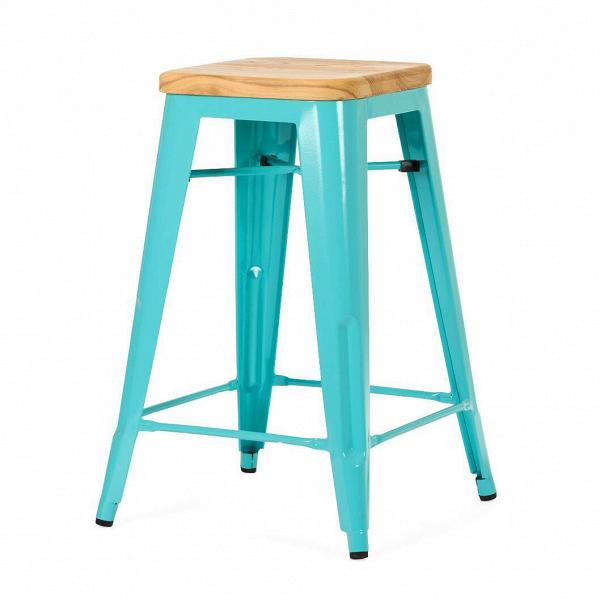 Барный стул Marais Color 1Полубарные<br>Хорошая мебель — это мебель стильная, удобная и надежная, простая в уходе. Так размышлял Ксавье Пошар, французский дизайнер ХХ века, и разработал целую серию предметов мебели, отвечающую этим запросам. Представляем вам барный стул Marais Color 1 с сиденьем из натурального дерева.<br><br><br> Тонкая гальванизированная сталь с порошковым напылением отлично воспринимает лакокрасочное покрытие, позволяя разнообразить палитру цветов, к тому же она очень долговечна. Продуманный дизайн предмета обесп...<br><br>stock: 0<br>Высота: 65<br>Ширина: 44<br>Ширина сиденья: 30<br>Глубина: 44<br>Глубина сиденья: 30<br>Тип материала каркаса: Сталь<br>Материал сидения: Массив дуба<br>Цвет сидения: Дуб<br>Тип материала сидения: Дерево<br>Цвет каркаса: Голубой<br>Дизайнер: Xavier Pauchard