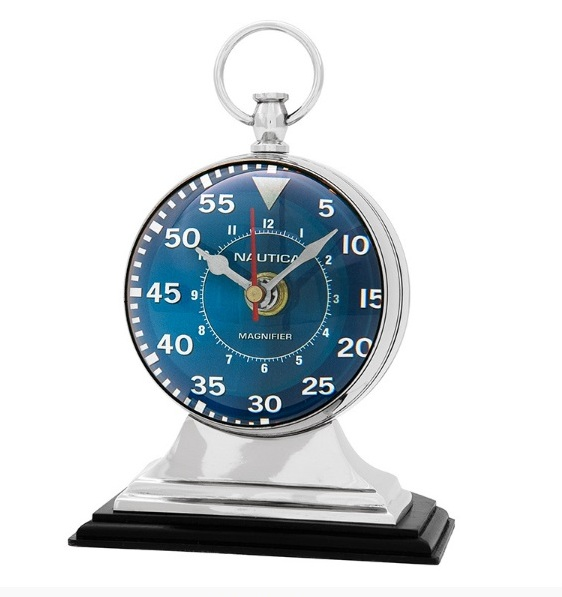 Часы Наутика (107038)Часы<br>Если вам нравятся исключительные интерьеры, в которых гармонично сочетается индивидуальность и надежность, современность и классичность, то мебель от голландской компании EICHHOLTZ обязательно придется вам по вкусу. Интересная, качественная, запоминающаяся, она сделает ваш дом эффектнее и уютнее.<br>История создания голландской компании EICHHOLTZ – это быстрый путь к успеху, начавшийся всего полтора десятка лет назад. Талантливый и креативный Theo Eichholtz понял в путешествиях, что мебель – это...<br><br>stock: 2<br>Высота: 20<br>Ширина: 12<br>Материал: металл, кожа, стекло<br>Цвет: silver chrom<br>Длина: 14