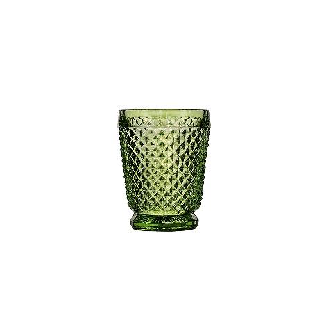 Стакан (ACN21/031573C61006)Посуда<br>Фабрика VISTA ALEGRE с 1824 года изготавливает изделия из цветного стекла , смешивая песок и натуральные пигменты. Стеклянные изделия создают ручным способом путем заливания в пресс-формы жидкого стекла. Уникальные цвета и узоры на изделиях позволяют использовать их в любых интерьерных стилях, будь то Шебби шик, арт деко, богемный шик, винтаж или современный стиль.<br><br>stock: 345<br>Материал: Стекло<br>Цвет: Green<br>Объем: 200<br>Объем: &lt;Объект не найден&gt; (51:94490025907a102b11e55de44d08e39e)