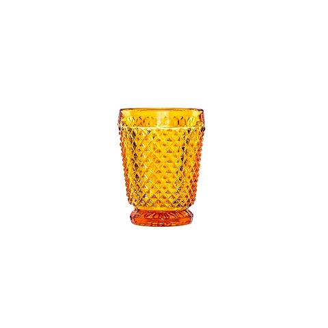 Стакан (ACN21/031573C25006)Посуда<br>Фабрика VISTA ALEGRE с 1824 года изготавливает изделия из цветного стекла , смешивая песок и натуральные пигменты. Стеклянные изделия создают ручным способом путем заливания в пресс-формы жидкого стекла. Уникальные цвета и узоры на изделиях позволяют использовать их в любых интерьерных стилях, будь то Шебби шик, арт деко, богемный шик, винтаж или современный стиль.<br><br>stock: 215<br>Материал: Стекло<br>Цвет: Amber<br>Объем: 200<br>Объем: &lt;Объект не найден&gt; (51:94490025907a102b11e55de44d08e39e)