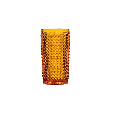 Стакан (ACN21/003259225006)Посуда<br>Фабрика VISTA ALEGRE с 1824 года изготавливает изделия из цветного стекла , смешивая песок и натуральные пигменты. Стеклянные изделия создают ручным способом путем заливания в пресс-формы жидкого стекла. Уникальные цвета и узоры на изделиях позволяют использовать их в любых интерьерных стилях, будь то Шебби шик, арт деко, богемный шик, винтаж или современный стиль.<br><br>stock: 158<br>Материал: Стекло<br>Цвет: Ambar 26A<br>Объем: 330<br>Объем: &lt;Объект не найден&gt; (51:94490025907a102b11e55de44d08e3b2)