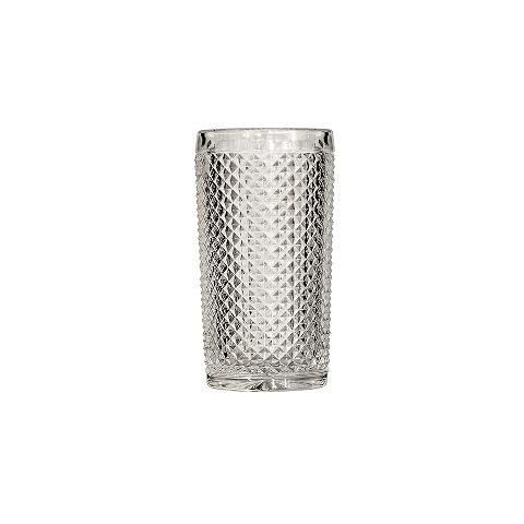 Стакан (ACN21/003259200006)Посуда<br>Фабрика VISTA ALEGRE с 1824 года изготавливает изделия из цветного стекла , смешивая песок и натуральные пигменты. Стеклянные изделия создают ручным способом путем заливания в пресс-формы жидкого стекла. Уникальные цвета и узоры на изделиях позволяют использовать их в любых интерьерных стилях, будь то Шебби шик, арт деко, богемный шик, винтаж или современный стиль.<br><br>stock: 79<br>Материал: Стекло<br>Цвет: Clear<br>Объем: 330<br>Объем: &lt;Объект не найден&gt; (51:94490025907a102b11e55de44d08e3b2)