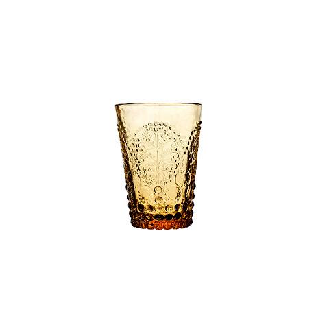 Стакан (ACN21/003125425006)Посуда<br>Фабрика VISTA ALEGRE с 1824 года изготавливает изделия из цветного стекла , смешивая песок и натуральные пигменты. Стеклянные изделия создают ручным способом путем заливания в пресс-формы жидкого стекла. Уникальные цвета и узоры на изделиях позволяют использовать их в любых интерьерных стилях, будь то Шебби шик, арт деко, богемный шик, винтаж или современный стиль.<br><br>stock: 163<br>Материал: Стекло<br>Цвет: Ambar 26A<br>Объем: 240<br>Объем: &lt;Объект не найден&gt; (51:94490025907a102b11e55de45d1f9e79)