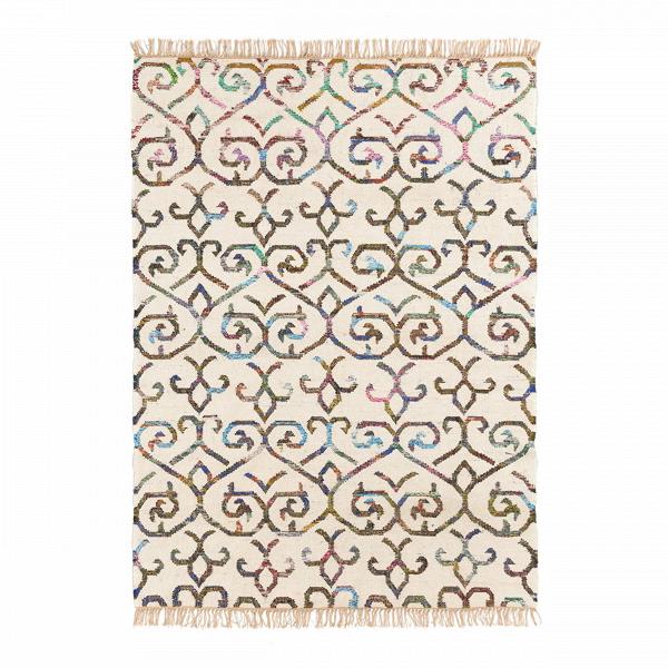 Ковер GranadaКовры<br>В классический дизайн ковраВGranada добавлена легкая современнаяВнотка: популярный для интерьерных ковров орнамент оживлен ярким цветовым исполнением. ВысококачественныйВковерВGranadaВизготовлен из натуральных экоматериалов, подлежащих дальнейшей переработке. Таким образом, он представляет собой не только стильный дизайн, но и олицетворяет бережное отношение к окружающей среде. <br><br>Благодаря ручной работе ковер можно считать уникальным произведением мастеров к...<br><br>stock: 6<br>Ширина: 160<br>Цвет: Слоновая кость+Цветной<br>Длина: 230<br>Состав ворса: Хлопок<br>Состав основы: Шерсть<br>Тип производства: Ручное производство