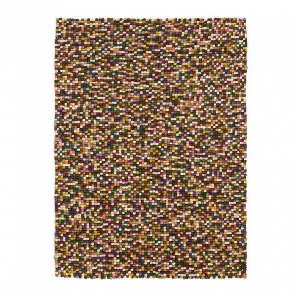 Ковер MilanoКовры<br>Дизайнерский креативный шерстяной ковер Milano (Милано) из разноцветных шариков от Cosmo (Космо).<br>Красочное цветовое исполнение в сочетании с необычнойВтехникойВизготовления составляют приметный дизайн напольного ковра Milano. Этот ковер непременно станет отличным украшением интерьера гостиной, спальни или детской комнаты.<br><br>     В зависимости от дизайна вашего будущего интерьера оригинальный ковер может стать либо акцентом, либо гармонично сочетающимся декором. В гостиной с белой...<br><br>stock: 12<br>Ширина: 160<br>Материал: Шерсть<br>Цвет: Multi/Мульти<br>Длина: 230<br>Тип производства: Ручное производство