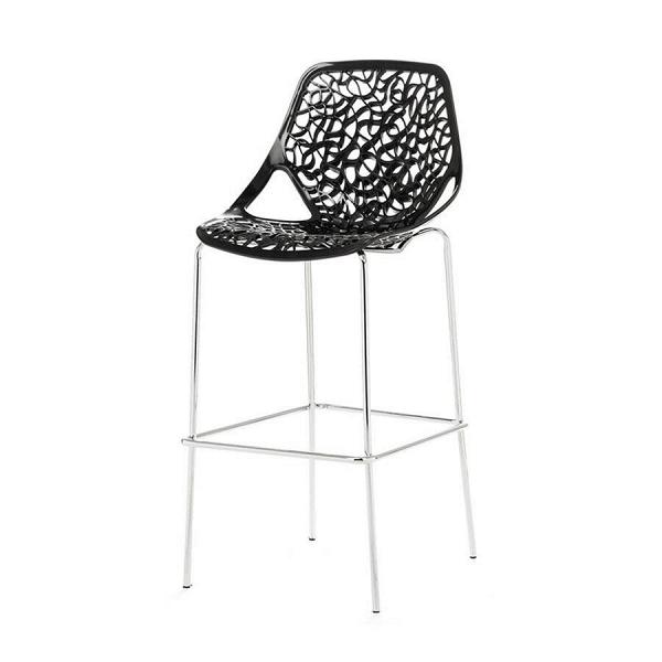 Барный стул CapriceБарные<br>Дизайнерский легкий барный стул Caprice (Каприз) на высоких ножках в цвете хром от Cosmo (Космо). <br><br> Удивительная особенность стульев Caprice вВихВспособности привносить вВокружающее ихВпространство элементы некоторого гламура иВшика. Примерно такВже, как ювелирные изделия завершают изысканный наряд.<br><br><br> Оригинальный барный стулВCaprice — одна изВсамых оригинальных работ художника Марчелло Дзильяни. Интересный дизайн создает впечатление тонкого кру...<br><br>stock: 0<br>Высота: 119<br>Высота сиденья: 83<br>Ширина: 54<br>Глубина: 61<br>Цвет ножек: Хром<br>Цвет сидения: Черный<br>Тип материала сидения: Сталь<br>Тип материала ножек: Сталь нержавеющая<br>Дизайнер: Marcello Ziliani