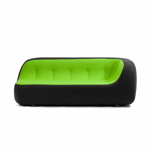 Диван SandДвухместные<br>Дизайнерский яркий креативный минималистичный диван Sand (Сенд) округлой формы от Softline (Софтлайн)<br><br> Диван SandВ— это ультрасовременный дизайн, вдохновением для создания которого послужила сама природа. На его создание испанских дизайнеров Хосе Эстебана и Хавьера Морено вдохновила вода, которая вВтечение долгого времени шлифует и изменяет камни, лежащие наВее пути, иВпостоянно создает новые формы.<br><br><br> Хосе Эстебан начал свою карьеру в 1992 году сразу в нескольких ра...<br><br>stock: 0<br>Высота: 71<br>Высота сиденья: 36<br>Глубина: 100<br>Длина: 190<br>Материал обивки: Шерсть, Полиамид<br>Цвет обивки дополнительный: Зеленый<br>Коллекция ткани: Felt<br>Тип материала обивки: Ткань<br>Цвет обивки: Антрацит