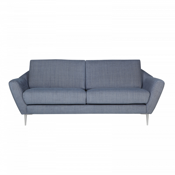Диван  AgdaДвухместные<br>Элегантный дизайнерский диван Agda представляет собой современную разработку ведущих проектировщиков мебельной компании Sits. Модель является стильным олицетворением шведской школы дизайна. Оформление дивана Agda воплощает собой уют и тепло домашнего очага, благодаря чему он будет великолепно смотреться в любой комнате и создаст в ней приветливую, позитивную атмосферу.<br><br><br> Хотя изделие больше напоминает классику, в нем присутствуют также черты наиболее современных стилей – это тонкие выс...<br><br>stock: 0<br>Высота: 84<br>Высота сиденья: 48<br>Глубина: 94<br>Длина: 199<br>Цвет ножек: Черный<br>Материал обивки: Полиэстер, Вискоза, Хлопок, Лен<br>Форма подлокотников: Стандарт<br>Коллекция ткани: Категория ткани IV<br>Тип материала обивки: Ткань<br>Тип материала ножек: Металл<br>Цвет обивки: Синий