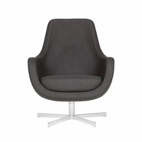 Кресло Stefani вращающеесяИнтерьерные<br>Нильс Гаммельгард — выдающийся датский дизайнер, сумевший найти свою нишу. Образованный и талантливый дизайнер вот уже 45 радует взыскательных любителей красивого интерьера. Как художнику ему удается создавать настоящие произведения искусства. Каждая его работа, предмет мебели, — это красивый и лаконичный дизайн,Видеально подходящий для интерьера в скандинавском стиле.<br> <br> Один из его совершенных продуктовВ— кресло Stefani вращающееся. Эта выполненная в нескольких оттенках модель п...<br><br>stock: 0<br>Высота: 87<br>Высота сиденья: 41<br>Ширина: 73<br>Глубина: 75<br>Цвет ножек: Серебро<br>Материал обивки: Шерсть, Полиамид<br>Степень комфортности: Стандарт комфорт<br>Форма подлокотников: Стандарт<br>Коллекция ткани: Категория ткани III<br>Тип материала обивки: Ткань<br>Тип материала ножек: Металл<br>Цвет обивки: Темно-серый