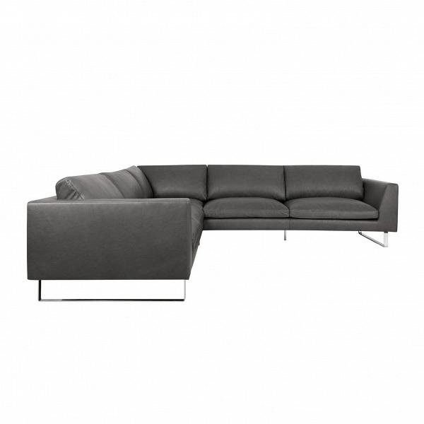 Угловой диван Tokyo 302х302Угловые<br>Угловой диван Tokyo 302х302 разработан модными дизайнерами, которые вместили в него сразу несколько современных стилей. Это и эпатажный лофт, и лаконичный минимализм, и ультрасовременный хай-тек. Изделие обладает простой формой, которая оригинально подчеркивается неприметными сразу деталями: удобное глубокое сиденье, стильные ножки, высокие подлокотники и темно-серый цвет.<br><br><br> Обивка дивана изготовлена из анилиновой кожи — это материал наивысшего качества, обладающий такими ценными свой...<br><br>stock: 0<br>Высота: 80<br>Высота сиденья: 43<br>Глубина: 102<br>Длина: 302<br>Цвет ножек: Хром<br>Степень комфортности: Стандарт комфорт<br>Форма подлокотников: Стандарт<br>Коллекция ткани: Aniline Leather<br>Тип материала обивки: Кожа анилиновая<br>Тип материала ножек: Металл<br>Цвет обивки: Темно-серый