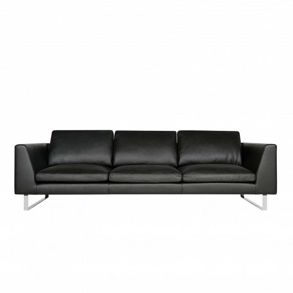 Диван Tokyo кожаный длина 250Трехместные<br>Стильный, кожаный диван — как раз то, что нужно для рабочего офиса или стильной и уютной приемной. Диван Tokyo кожаный длина 250 имеет строгое оформление, которому дизайнеры мебельной компании Sits постарались придать утонченный и элегантный стиль. Диван имеет тонкие черные ножки, изготовленные из нержавеющей стали черного цвета, и имеет стильную обивку из черной высококачественной кожи, что всегда хорошо смотрится в хорошо обустроенных офисных помещениях. <br><br><br> Диван Tokyo кожаный длина...<br><br>stock: 0<br>Высота: 80<br>Высота сиденья: 43<br>Глубина: 102<br>Длина: 250<br>Цвет ножек: Хром<br>Степень комфортности: Стандарт комфорт<br>Форма подлокотников: Стандарт<br>Коллекция ткани: Aniline Leather<br>Тип материала обивки: Кожа анилиновая<br>Тип материала ножек: Металл<br>Цвет обивки: Черный