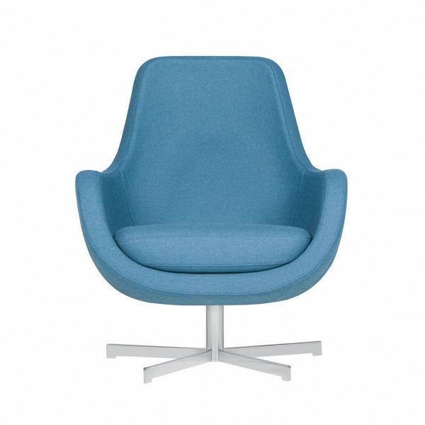 Кресло Stefani вращающеесяИнтерьерные<br>Нильс Гаммельгард — выдающийся датский дизайнер, сумевший найти свою нишу. Образованный и талантливый дизайнер вот уже 45 радует взыскательных любителей красивого интерьера. Как художнику ему удается создавать настоящие произведения искусства. Каждая его работа, предмет мебели, — это красивый и лаконичный дизайн,Видеально подходящий для интерьера в скандинавском стиле.<br> <br> Один из его совершенных продуктовВ— кресло Stefani вращающееся. Эта выполненная в нескольких оттенках модель п...<br><br>stock: 0<br>Высота: 87<br>Высота сиденья: 41<br>Ширина: 73<br>Глубина: 75<br>Цвет ножек: Серебро<br>Материал обивки: Шерсть, Полиамид<br>Степень комфортности: Стандарт комфорт<br>Форма подлокотников: Стандарт<br>Коллекция ткани: Категория ткани III<br>Тип материала обивки: Ткань<br>Тип материала ножек: Металл<br>Цвет обивки: Светло-бирюзовый