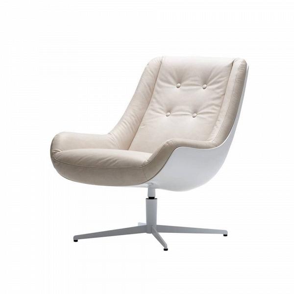 Кресло LovebirdИнтерьерные<br>Дизайнерское кресло Lovebird обладает простым, но элегантным классическим дизайном. Этот стиль отличается утонченной роскошью всех элементов, умеренным количеством деталей и элементов декора, ограниченной цветовой палитрой и необычайным комфортом. Кресло Lovebird гармонично сочетает в себе все эти качества и позволит вам насладиться уютом и комфортным отдыхом как в рабочее время, так и во время дружеской беседы за чашечкой кофе или же чтением любимой книги.<br><br><br> На выбор предлагается не...<br><br>stock: 0<br>Высота: 87<br>Высота сиденья: 41<br>Ширина: 73<br>Глубина: 89<br>Цвет ножек: Белый<br>Механизмы: Поворотная функция<br>Тип материала каркаса: Стеклопластик<br>Коллекция ткани: Aniline Leather<br>Тип материала обивки: Кожа анилиновая<br>Тип материала ножек: Сталь<br>Цвет обивки: Бежевый<br>Цвет каркаса: Белый