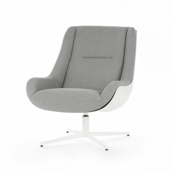 Кресло LovebirdИнтерьерные<br>Дизайнерское кресло Lovebird обладает простым, но элегантным классическим дизайном. Этот стиль отличается утонченной роскошью всех элементов, умеренным количеством деталей и элементов декора, ограниченной цветовой палитрой и необычайным комфортом. Кресло Lovebird гармонично сочетает в себе все эти качества и позволит вам насладиться уютом и комфортным отдыхом как в рабочее время, так и во время дружеской беседы за чашечкой кофе или же чтением любимой книги.<br><br><br> На выбор предлагается не...<br><br>stock: 0<br>Высота: 87<br>Высота сиденья: 41<br>Ширина: 73<br>Глубина: 89<br>Цвет ножек: Белый<br>Механизмы: Поворотная функция<br>Материал обивки: Полиэстер, Хлопок, Акрил<br>Тип материала каркаса: Стеклопластик<br>Коллекция ткани: Категория ткани IV<br>Тип материала обивки: Ткань<br>Тип материала ножек: Сталь<br>Цвет обивки: Серо-синий<br>Цвет каркаса: Белый