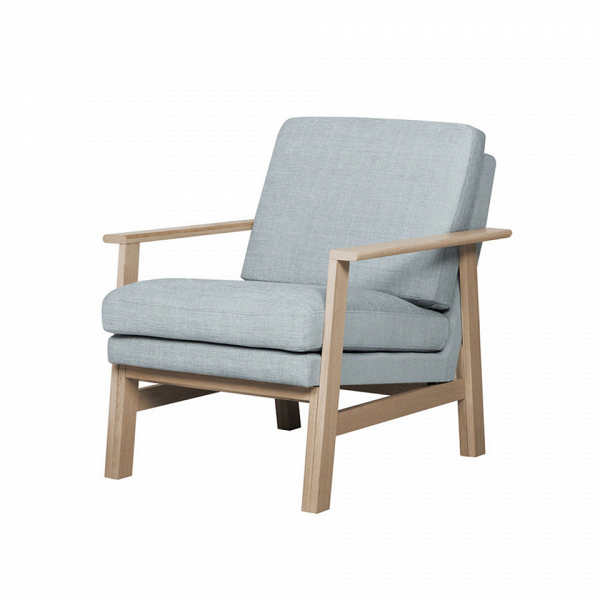 Кресло FineИнтерьерные<br>Простота и оригинальность гармонично сочетаются в данном дизайнерском изделии, которое способно освежить любой интерьер и добавить в него нотку легкости, комфорта и домашнего тепла. Кресло Fine отличается «легким» дизайном, естественными цветами и привлекательным внешним видом. Кресло очень удобно благодаря своей широкой спинке и сиденью, которые установлены под легким наклоном, что обеспечивает качественный и комфортный отдых.<br><br><br> Обивка кресла изготовлена из приятной на ощупь текстур...<br><br>stock: 0<br>Высота: 80<br>Высота сиденья: 46<br>Ширина: 69<br>Глубина: 82<br>Цвет ножек: Беленый дуб<br>Материал обивки: Полиэстер, Вискоза, Хлопок, Лен<br>Коллекция ткани: Категория ткани IV<br>Тип материала обивки: Ткань<br>Тип материала ножек: Дерево<br>Цвет обивки: Серо-голубой