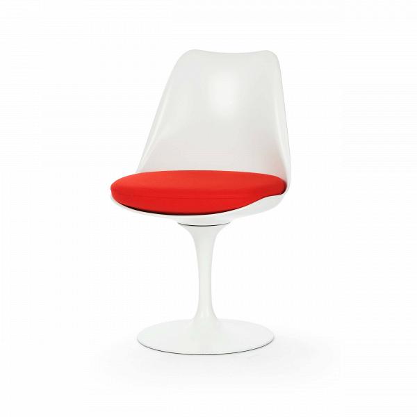Стул TulipИнтерьерные<br>Дизайнерский стул Tulip (Тьюлип) из стекловолокна на алюминиевой ножке от Cosmo (Космо).<br><br> Стул Tulip — это один из самых знаменитых предметов мебели, он был разработан в 1958 году Ээро Саариненом. Поистине футуристический дизайн и классика модерна. Первый в мире одноногий стул изменил будущее дизайна мебели. Формой стул напоминает бокал или, как видно из названия, — тюльпан. Уникальное основание постамента обеспечивает устойчивость и выглядит эстетически привлекательным. Избавив стул от тр...<br><br>stock: 0<br>Высота: 81<br>Высота сиденья: 46<br>Ширина: 49,5<br>Глубина: 53<br>Цвет ножек: Белый глянец<br>Механизмы: Поворотная функция<br>Тип материала каркаса: Стекловолокно<br>Материал сидения: Шерсть, Нейлон<br>Цвет сидения: Красный<br>Тип материала сидения: Ткань<br>Коллекция ткани: T Fabric<br>Тип материала ножек: Алюминий<br>Цвет каркаса: Белый глянец<br>Дизайнер: Eero Saarinen