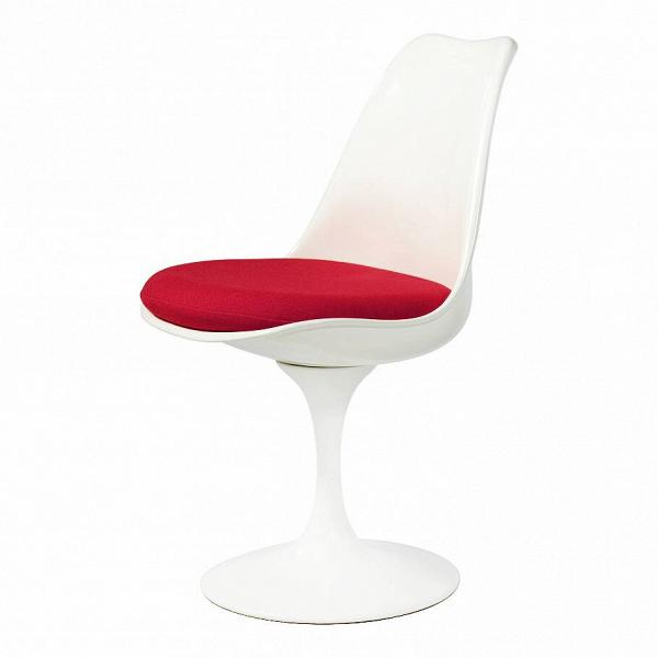 Стул TulipИнтерьерные<br>Дизайнерский стул Tulip (Тьюлип) из стекловолокна на алюминиевой ножке от Cosmo (Космо).<br><br> Стул Tulip — это один из самых знаменитых предметов мебели, он был разработан в 1958 году Ээро Саариненом. Поистине футуристический дизайн и классика модерна. Первый в мире одноногий стул изменил будущее дизайна мебели. Формой стул напоминает бокал или, как видно из названия, — тюльпан. Уникальное основание постамента обеспечивает устойчивость и выглядит эстетически привлекательным. Избавив стул от тр...<br><br>stock: 10<br>Высота: 81<br>Высота сиденья: 46<br>Ширина: 49,5<br>Глубина: 53<br>Цвет ножек: Белый матовый<br>Механизмы: Поворотная функция<br>Тип материала каркаса: Стекловолокно<br>Материал сидения: Шерсть, Нейлон<br>Цвет сидения: Красный<br>Тип материала сидения: Ткань<br>Коллекция ткани: T Fabric<br>Тип материала ножек: Алюминий<br>Цвет каркаса: Белый матовый<br>Дизайнер: Eero Saarinen