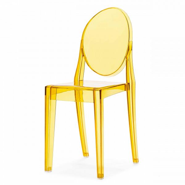 Стул Victoria GhostИнтерьерные<br>Дизайнерский прозрачный пластиковый стул Victoria Ghost (Виктория Гост) с подлокотниками от Cosmo (Космо).<br>Обращаясь к стилю рококо, господствовавшему во Франции в XVIII веке, французский промышленныйВдизайнер Филипп Старк в 2002 году разработал эти удобные современные стулья. Современность, черпающая вдохновение в стиле времен правления Людовика XV, удивляет и в то же время очаровывает. Оригинальные стулья Victoria Ghost от Филиппа Старка послужат элегантным дополнением вашего интерьер...<br><br>stock: 14<br>Высота: 90,5<br>Высота сиденья: 48,5<br>Ширина: 38,5<br>Глубина: 49,5<br>Материал каркаса: Поликарбонат<br>Тип материала каркаса: Пластик<br>Цвет каркаса: Желтый прозрачный<br>Дизайнер: Philippe Starck
