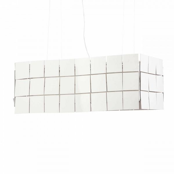 Подвесной светильник Cubrik 66 плитокПодвесные<br>Подвесные светильники Cosmo — это особый дизайн и великолепное сочетание стиля и качества. Обратите особое внимание на подвесной светильник Cubric 66 плиток. Данный осветительный прибор не просто создаст отличное освещение в любом помещении, но и предоставит вам простор для творчества, ведь вы сами сможете настроить его боковые стенки так, как вам захочется. Светильник выполнен в стильном белом цвете.<br><br><br> Корпус абажура светильника изготовлен из белых пластиковых пластинок, что делает ...<br><br>stock: 0<br>Высота: 42<br>Ширина: 42<br>Длина: 110<br>Количество ламп: 3<br>Материал абажура: Пластик<br>Материал арматуры: Металл<br>Ламп в комплекте: Нет<br>Напряжение: 220<br>Тип лампы/цоколь: E27<br>Цвет абажура: Белый