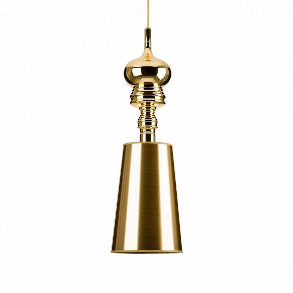 Подвесной светильник Josephine диаметр 23Подвесные<br>Ну кто как не француз мог быть дизайнером этой элегантной лампы с говорящим именем Жозефина, подумаете вы — иВнеВугадаете. Ее создатель — мастер экстравагантности и интерьерных неожиданностей испанец Хайме Айон. Он начал свою «сольную» творческую карьеру в 2003-м, а эту лампу создал для студии Metalarte в наши дни, отлично стилизовав ее под изящную антикварную вещицу. В нашей же версии мы пошли еще более утилитарным путем: выполнили основание изВметалла, абажур — из ткани, ...<br><br>stock: 21<br>Высота: 150<br>Диаметр: 23<br>Материал абажура: Пластик<br>Материал арматуры: Металл<br>Ламп в комплекте: Нет<br>Напряжение: 220<br>Цвет абажура: Золотой<br>Дизайнер: Jaime Hayon