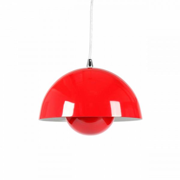 Подвесной светильник Flower Pot 2 диаметр 23Подвесные<br>Подвесной светильник Flower Pot 2 диаметр 23 создан одной из самых ярких звезд промышленного дизайна двадцатого века Вернером Пантоном.<br><br><br> Вернер Пантон — датский художник, известный тем, что экспериментировал во всем, к чему он прикасался. Он был одним из первых, кто начал экспериментировать с такими необычными на тот момент материалами, как стекло, пластик, сталь и полипропилен. Это сейчас они окружают нас повсюду, а на момент, когда Пантон начал работать с ними, это казалось безумие...<br><br>stock: 10<br>Высота: 16<br>Диаметр: 23<br>Длина провода: 180<br>Количество ламп: 1<br>Материал абажура: Сталь<br>Материал арматуры: Сталь<br>Мощность лампы: 60<br>Ламп в комплекте: Нет<br>Напряжение: 220-240<br>Тип лампы/цоколь: E27<br>Цвет абажура: Красный<br>Цвет арматуры: Красный<br>Дизайнер: Verner Panton