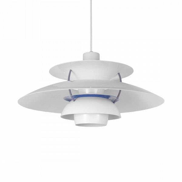 Подвесной светильник PH 5Подвесные<br>Подвесной светильник PH 5 — это одна из самых известных моделей светильников, созданных знаменитым скандинавским дизайнером Поулем Хеннингсеном. Главные принципы, которыми руководствовался мастер при создании своих творений, заключаются в том, что освещение должно быть ярким, но мягким и приятным глазу. Светильники дизайнера дают спокойный, яркий и равномерный свет, который выгодно подчеркивает интерьер и создает в нем приятную дружелюбную атмосферу.<br><br><br> Подвесной светильник PH 5 изготов...<br><br>stock: 0<br>Высота: 28<br>Диаметр: 50<br>Доп. цвет абажура: Голубой<br>Материал абажура: Алюминий<br>Ламп в комплекте: Нет<br>Цвет абажура: Белый матовый<br>Цвет провода: Белый<br>Дизайнер: Poul Henningsen