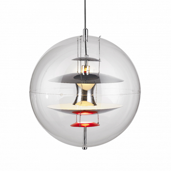 Подвесной светильник GlobeПодвесные<br>Совершенно неповторимый подвесной светильник Globe способен преобразить любой современный интерьер. Изделие обладает очень необычным, интересным и живым дизайном, который притягивает взгляды и который хочется долго рассматривать и находить в нем все новые детали. Такое изделие особенно подойдет для комнаты, в которой не хватает чего-то особенного, интересной изюминки, способной завершить визуальную картину интерьерного дизайна.<br><br><br> Подвесной светильник Globe изготовлен из современных вы...<br><br>stock: 0<br>Диаметр: 40<br>Материал абажура: Акрил<br>Материал арматуры: Металл<br>Ламп в комплекте: Нет<br>Цвет абажура: Прозрачный<br>Цвет арматуры: Черный<br>Цвет провода: Черный