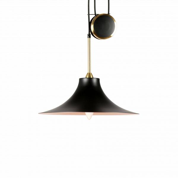 Подвесной светильник Wizard Hat диаметр 40Подвесные<br>Если вы хотите разнообразить свой интерьер стильным оригинальным декором, но не хотите перегружать его лишними деталями, то подвесной светильник Wizard Hat диаметр 40 будет идеальным вариантом для обстановки вашего дома. Это изделие полностью оправдывает свое название (в переводе с англ. Wizard Hat — «шляпа волшебника»), его дизайн действительно очень похож на широкополую магическую шляпу.<br><br><br> Подвесной светильник Wizard Hat диаметр 40 имеет еще одну немаловажную и функциональную особен...<br><br>stock: 0<br>Высота: 14<br>Диаметр: 40<br>Длина провода: 160-280<br>Доп. цвет абажура: Латунь<br>Количество ламп: 1<br>Материал абажура: Сталь<br>Материал арматуры: Сталь<br>Ламп в комплекте: Нет<br>Цвет абажура: Черный<br>Цвет арматуры: Черный<br>Цвет провода: Черный