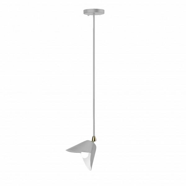 Потолочный светильник AntonyПотолочные<br>Потолочный светильник Antony был создан известным французским дизайнером Сержем Муем, который считает осветительные приборы настоящими произведениями искусства. В своих творениях он воплотил лаконичные и понятные черты, которые не перегрузят интерьер, а лишь дополнят его и откроют пространство. Потолочный светильник Antony во всем созвучен с принципами своего создателя.<br><br><br> Весь корпус данного изделия сделан из легкого и прочного алюминия, благодаря которому светильник прослужит вам дол...<br><br>stock: 0<br>Высота: 100<br>Длина: 31<br>Доп. цвет абажура: Латунь<br>Количество ламп: 1<br>Материал абажура: Алюминий<br>Материал арматуры: Сталь<br>Мощность лампы: 75<br>Ламп в комплекте: Нет<br>Тип лампы/цоколь: E14<br>Цвет абажура: Серый<br>Цвет арматуры: Серый<br>Дизайнер: Serge Mouille