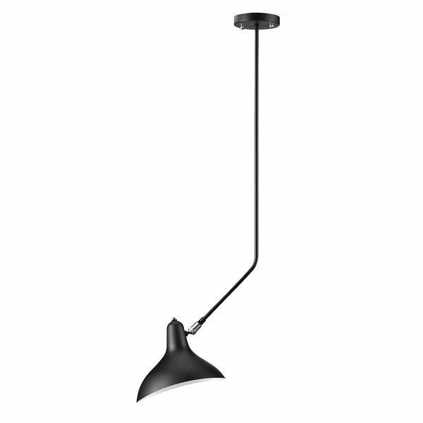 Потолочный светильник Spider Mouille длина 102Потолочные<br>Оригинальный потолочный светильник Spider Mouille длина 102 имеет утонченный дизайн, подчеркнутый необычной для ламп конструкцией. Абсолютная симметрия и сочетание строгой геометрии делают его поистине интересным арт-объектом, подходящим для современных интерьеров, декорированных в стиле техно, хай-тек, лофт и многих других.В<br><br><br><br><br> Наиболее подходящее место размещение светильника — рядом с мягкой мебелью. Светильник скрасит ваши уютные вечера,Впроведенные за чтением любимой...<br><br>stock: 0<br>Диаметр: 11<br>Длина: 102<br>Доп. цвет абажура: Латунь<br>Количество ламп: 1<br>Материал абажура: Алюминий<br>Материал арматуры: Сталь<br>Мощность лампы: 75<br>Ламп в комплекте: Нет<br>Тип лампы/цоколь: E14<br>Цвет абажура: Черный<br>Цвет арматуры: Черный<br>Дизайнер: Serge Mouille