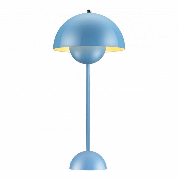 Настольный светильник Flower PotНастольные<br>Поклонникам футуристичного дизайна в стиле Стенли Кубрика или «Интерстеллара» как нельзя лучше подойдут мебель и осветительные приборы скандинавского патриарха, ученика Арне Якобсена Вернера Пантона. Революционер в области дизайна, он когда-то провозгласил: «Нет такого закона, по которому в гостиной должны стоять диван, два кресла и журнальный столик. Есть и другие способы создать атмосферу релаксации». И создавал ее: на его яркие психоделические интерьеры, в которых Пантон играл с цветом, фо...<br><br>stock: 0<br>Высота: 48<br>Диаметр: 23<br>Материал абажура: Алюминий<br>Материал арматуры: Сталь<br>Ламп в комплекте: Нет<br>Цвет абажура: Голубой<br>Цвет арматуры: Голубой<br>Дизайнер: Verner Panton