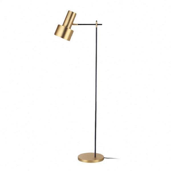 Напольный светильник BelidНапольные<br>Лаконичная форма и простое оформление напольного светильника Belid только подчеркивают его современный стиль и утонченный дизайн, которому автор постарался придать как можно больше удобства и функциональности. Модерн, лофт, поп-арт, ар-деко — это лишь небольшой список интерьерных стилей, в которые данное изделие сможет вписаться легко и гармонично.<br><br><br> Напольный светильник Belid имеет среднюю высоту, что очень удобно, если вы хотите использовать его рядом с диваном или креслом. При тако...<br><br>stock: 0<br>Высота: 140<br>Диаметр: 28<br>Количество ламп: 1<br>Материал абажура: Сталь<br>Материал арматуры: Сталь<br>Ламп в комплекте: Нет<br>Цвет абажура: Латунь<br>Цвет арматуры: Черный