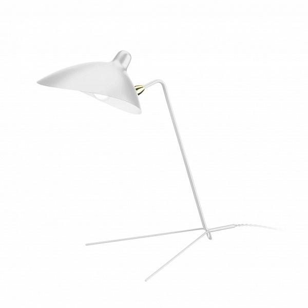 Настольный светильник CasquetteНастольные<br>Творения известного дизайнера Сержа Муя словно живые, они создают ощущение движения в пространстве, оживляют окружающий их интерьер, придают ему особую энергию и стиль. Настольный светильник Casquette — это одна из наиболее известных его работ. Изделие похоже на функционального насекомоподобного робота, который призван помогать нам в быту.<br><br><br> Такое ощущение во многом вызвано оригинальной конструкцией ножки-опоры светильника, похожей на лапки или усики. Эта опора изготовлена из прочной...<br><br>stock: 0<br>Высота: 49<br>Ширина: 36<br>Длина: 51<br>Доп. цвет абажура: Латунь<br>Количество ламп: 1<br>Материал абажура: Алюминий<br>Материал арматуры: Сталь<br>Мощность лампы: 75<br>Ламп в комплекте: Нет<br>Тип лампы/цоколь: E14<br>Цвет абажура: Белый<br>Цвет арматуры: Белый<br>Цвет провода: Белый<br>Дизайнер: Serge Mouille