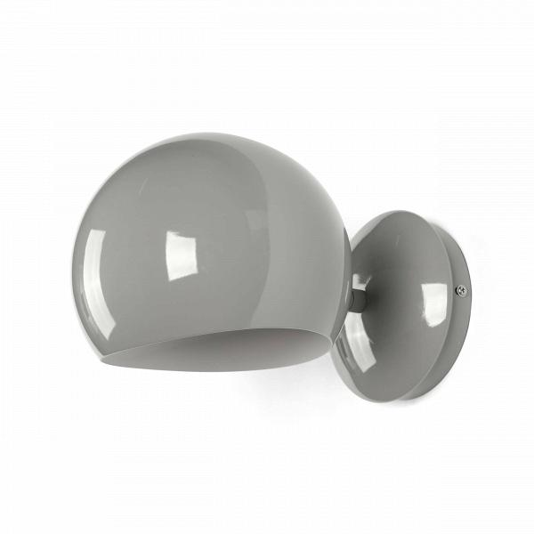 Настенный светильник Sphere диаметр 18Настенные<br>Настенный светильник Sphere диаметр 18 — прекрасный пример эргономичности в дизайне. Очень короткая, почти отсутствующая ножка, переходящая в тяжелый плафон идеальной шарообразной формы, — все это создает впечатление законченности и выдержанности.<br><br><br> В простоте создается идеальный стиль — именно так и сделан этот небольшой светильник в стиле модерн. Модерну присущи лаконичность и функциональность, и эти идеи может при помощи этого предмета интерьера реализовать любой поклонник минимали...<br><br>stock: 0<br>Диаметр: 18<br>Длина: 26<br>Количество ламп: 1<br>Материал абажура: Металл<br>Материал арматуры: Сталь<br>Ламп в комплекте: Нет<br>Цвет абажура: Серый глянцевый<br>Цвет арматуры: Серый глянцевый