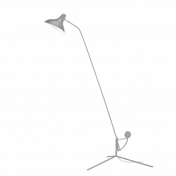 Напольный светильник Mantis TripodНапольные<br>Напольный светильник Mantis Tripod — это работа дизайнера Бернарда Шоттландера, которую он создал в 1951 году. Сам художник считает себя «дизайнером интерьеров и скульптором экстерьеров», поэтому его известный «богомол» (так переводится название светильника), может настраиваться по высоте и сгибу в зависимости от нужд владельца.<br><br><br> Настраиваемый функционал — одно из главных достоинств этого светильника. Очень удобно иметь возможность направить свет так, чтобы он падал под идеальным угл...<br><br>stock: 0<br>Высота: 170<br>Диаметр: 56<br>Количество ламп: 1<br>Материал абажура: Алюминий<br>Материал арматуры: Сталь<br>Мощность лампы: 75<br>Ламп в комплекте: Нет<br>Тип лампы/цоколь: E14<br>Цвет абажура: Серый<br>Цвет арматуры: Серый<br>Цвет провода: Черный