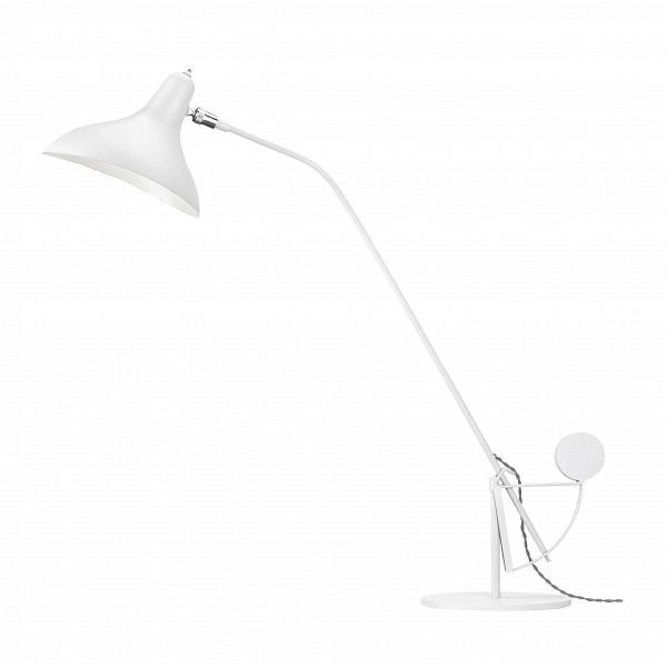 Настольный светильник MantisНастольные<br>Настольный светильник Mantis — это работа дизайнера Бернарда Шоттландера, которую он создал в 1951 году. Сам художник считает себя «дизайнером интерьеров и скульптором экстерьеров», поэтому его известный «богомол» (так переводится название светильника), может настраиваться по высоте и сгибу в зависимости от нужд владельца.<br><br><br> Настраиваемый функционал — одно из главных достоинств этого светильника. Очень удобно иметь возможность направить свет так, чтобы он падал под идеальным углом, ил...<br><br>stock: 0<br>Высота: 80<br>Длина: 63<br>Количество ламп: 1<br>Материал абажура: Алюминий<br>Материал арматуры: Сталь<br>Ламп в комплекте: Нет<br>Цвет абажура: Белый<br>Цвет арматуры: Белый<br>Цвет провода: Белый