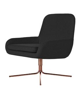 Кресло Coco SwivelИнтерьерные<br>Дизайнерское небольшое современное вращающееся кресло Coco Swivel (Коко Свивэл) из ткани на одной ножке от Softline (Софтлайн).<br><br>КреслоВCoco Swivel — красивое и смелое кресло с минималистским, но очень динамичным дизайном. Это результат сотрудничества между Флеммингом Буском и Стефаном Б.Херцогом, датским коллективом дизайнеров, известными своими наградами вВобласти дизайна мебели.<br><br><br><br> <br><br><br> Оригинальное креслоВCoco Swivel от компании Softline — это выбор для активных ...<br><br>stock: 0<br>Высота: 76<br>Высота сиденья: 40<br>Ширина: 65<br>Глубина: 73<br>Цвет ножек: Медь<br>Механизмы: Поворотная функция<br>Материал обивки: Хлопок, Полиэстер<br>Коллекция ткани: Vision<br>Тип материала обивки: Ткань<br>Тип материала ножек: Металл<br>Цвет обивки: Темно-серый<br>Дизайнер: Busk + Hertzog