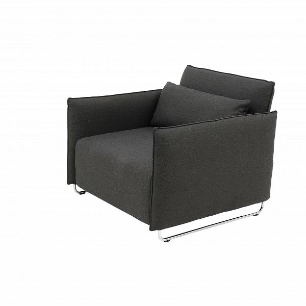 Кресло CordИнтерьерные<br>Дизайнерское кресло Cord (Корд) из шерсти, полиамида на металлических ножках от Softline (Софтлайн).<br><br><br> Кресло CordВ— это результат сотрудничества между Флеммингом Буском и Стефаном Б.Херцогом, датским коллективом дизайнеров, известными своими наградами вВобласти дизайна мебели. Кресло было разработано в 2006 году. <br><br><br> Оригинальное кресло CordВ— это компактная мебель, идеально подходящая для маленьких городских пространств, изящное иВпрактичное кресло-кровать. В эт...<br><br>stock: 0<br>Высота: 76<br>Высота сиденья: 38<br>Ширина: 95<br>Глубина: 96<br>Цвет ножек: Хром<br>Материал обивки: Хлопок, Полиэстер<br>Коллекция ткани: Vision<br>Тип материала обивки: Ткань<br>Тип материала ножек: Металл<br>Цвет обивки: Темно-серый<br>Дизайнер: Busk + Hertzog