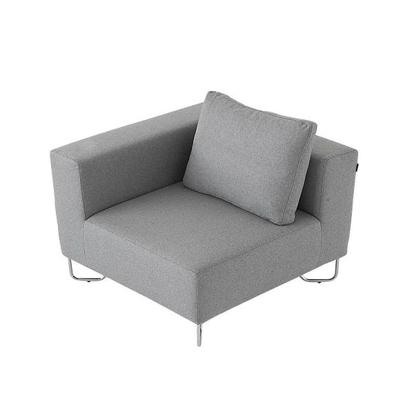 Угловой модуль дивана LotusДвухместные<br>Стильный, современный и легкий — модульный диван Lotus будет великолепным украшением любого домашнего интерьера современного типа. Угловой модуль дивана Lotus имеет широкое сиденье и оснащен комфортной, уютной подушкой, то что надо для качественного и удобного семейного отдыха. Модульные диваны становятся все более популярными и не зря. Благодаря модулям вы можете собрать диван именно той конструкции, которая наиболее подойдет вашей комнате.<br><br><br> Угловой модуль дивана Lotus обладает прия...<br><br>stock: 0<br>Высота: 82<br>Высота сиденья: 42<br>Глубина: 98<br>Длина: 98<br>Цвет ножек: Хром<br>Материал обивки: Шерсть, Полиамид<br>Коллекция ткани: Felt<br>Тип материала обивки: Ткань<br>Тип материала ножек: Металл<br>Цвет обивки: Светло-серый