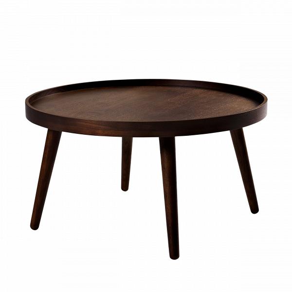 Кофейный стол Alma диаметр 70Кофейные столики<br>Изящный дизайнерский кофейный стол Alma диаметр 70 может стать отличным дополнением любой квартиры. Спокойный нейтральный дизайн изделия не требует особенного интерьера и легко подойдет как для современного дизайна, так и для более классического варианта комнатного оформления.<br><br><br> Кофейный стол Alma диаметр 70 изготовлен из благородной породы дерева высочайшего качества, что гарантирует его износостойкость и прекрасный внешний вид. Круглая столешница прочно крепится к устойчивым ножкам,...<br><br>stock: 0<br>Высота: 37<br>Диаметр: 70<br>Тип материала каркаса: Дерево<br>Цвет каркаса: Темно-коричневый