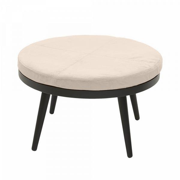 Кофейный стол Alma диаметр 70 с подушкойКофейные столики<br>Оригинальный и в то же время лаконичный дизайн данного изделия подкупает своей привлекательной простотой и непринужденностью. Дизайнерский кофейный стол Alma диаметр 70 с подушкой способен дополнить практически любой современный интерьер домашних комнат. Кроме того, благодаря своим размерам стол весьма мобилен и может быть с легкостью перемещен из одной комнаты в другую.<br><br><br> Кофейный стол Alma диаметр 70 с подушкой изготовлен из благородной породы дерева высочайшего качества, что гарант...<br><br>stock: 0<br>Высота: 43<br>Диаметр: 70<br>Цвет ножек: Черный<br>Цвет столешницы: Бежевый<br>Тип материала столешницы: Ткань<br>Тип материала ножек: Дерево