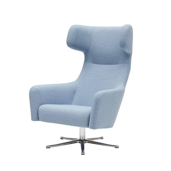 Кресло Havana вращающеесяИнтерьерные<br>Дизайнерское кресло Havana вращающееся — отличное решение для офисного или домашнего кабинета. Главная его особенность — это удобная высокая спинка, оснащенная не менее удобным подголовником. В таком кресле удобно не только работать, но и отдыхать прямо во время рабочего дня. Ножки кресла имеют специальные насадки, благодаря чему кресло прочно стоит на месте, никуда не сдвинется и не будет шататься.<br><br><br> Помимо необыкновенно комфортной формы, Havana также отличается высоким качеством ис...<br><br>stock: 0<br>Высота: 113<br>Высота сиденья: 35<br>Ширина: 79<br>Глубина: 90<br>Цвет ножек: Хром<br>Механизмы: Поворотная функция<br>Материал обивки: Хлопок, Полиэстер<br>Коллекция ткани: Vision<br>Тип материала обивки: Ткань<br>Тип материала ножек: Алюминий<br>Цвет обивки: Голубой